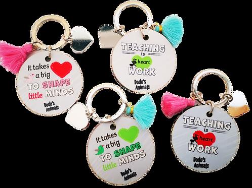 מתנות למורה ולגננת - מחזיקי מפתחות  עם מסר של הוקרה