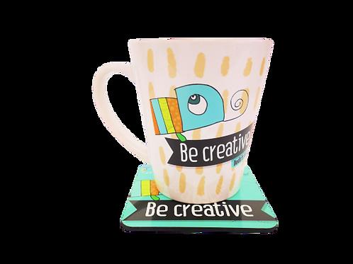 Be creative - מארז ספל ותחתית
