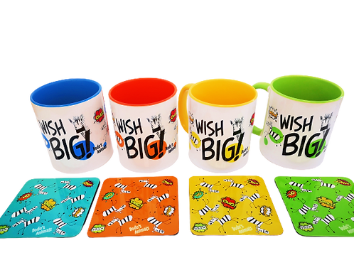WISH BIG-קומיקספל - ספלים צבעוניים מסדרת הקומיקס