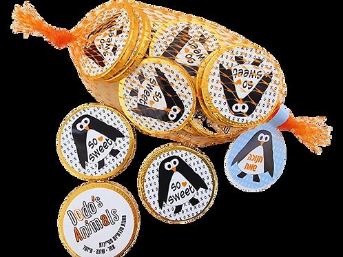 מטבעות שוקולד- פינגווין ברשת