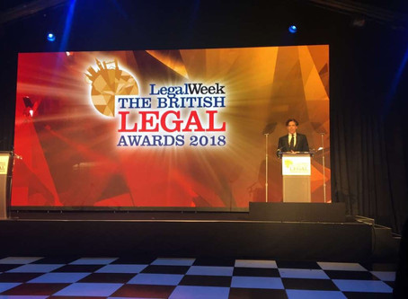 Winners at the British Legal Awards