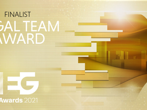 We're finalists! Legal Team Award, EG Awards 2021