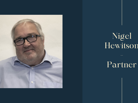 Nigel Hewitson Joins as Partner