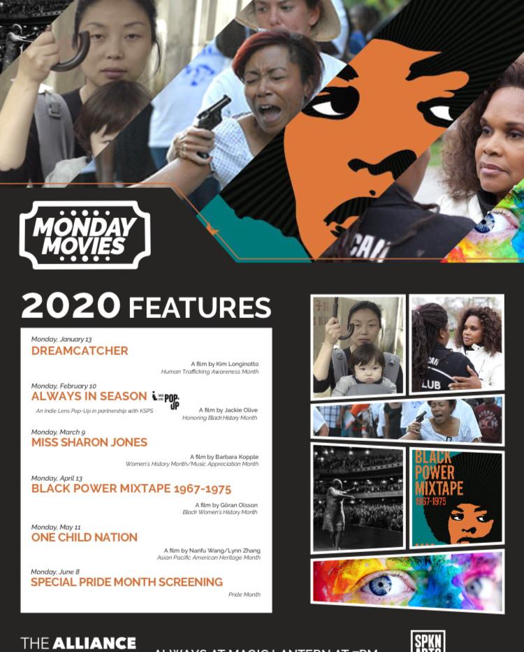 Monday Movies 2020 flyer