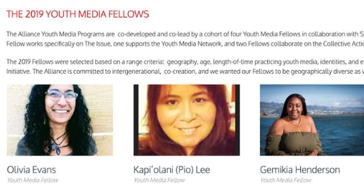 Youth Media Fellows 2019