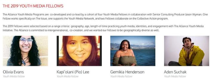 Youth Media Fellows 2019