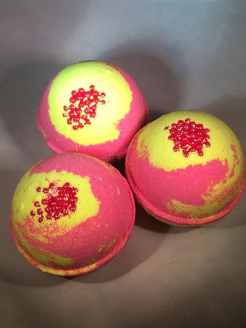 Pink Grapefruit Bath Bombs