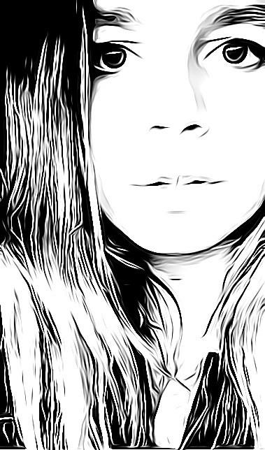 Black and white pencil