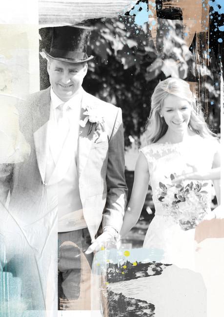 Commissioned wedding artwork