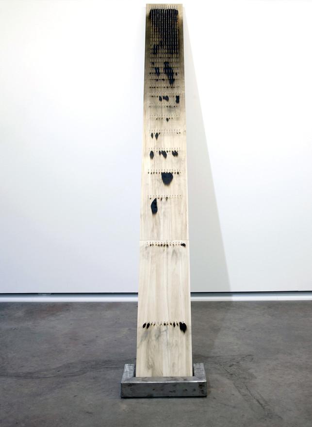 Matches 2.0 Wooden Panel, matches, metal 265 x 29 x 8 cm 2017
