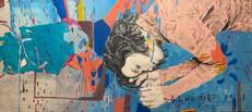 Andrea Saltini 1+1=11 (Habitus) mixed media on canvas 100 x 120 cm  2020