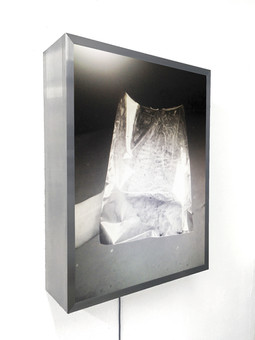 The foil as part of the series: the nonexistent areas are of particular interest Print on aluminum lightbox 45 x 33 cm 2018