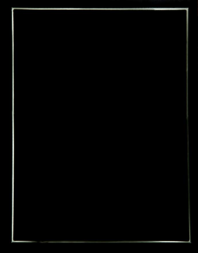Die nicht vorhandenen Stellen sind von besonderem Interesse No.3 (translation: the nonexistent areas are of particular interest) Photogram framed 40  x 30 cm 2015