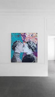 I capelli di Maria Antonietta - Narcisus mixed media on wood 120 x 100 cm 2016