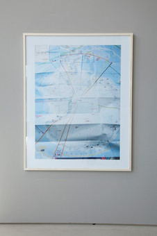 Maps No.888 as part of the series: maps C-Print mounted and framed 144 x 114 cm 2017