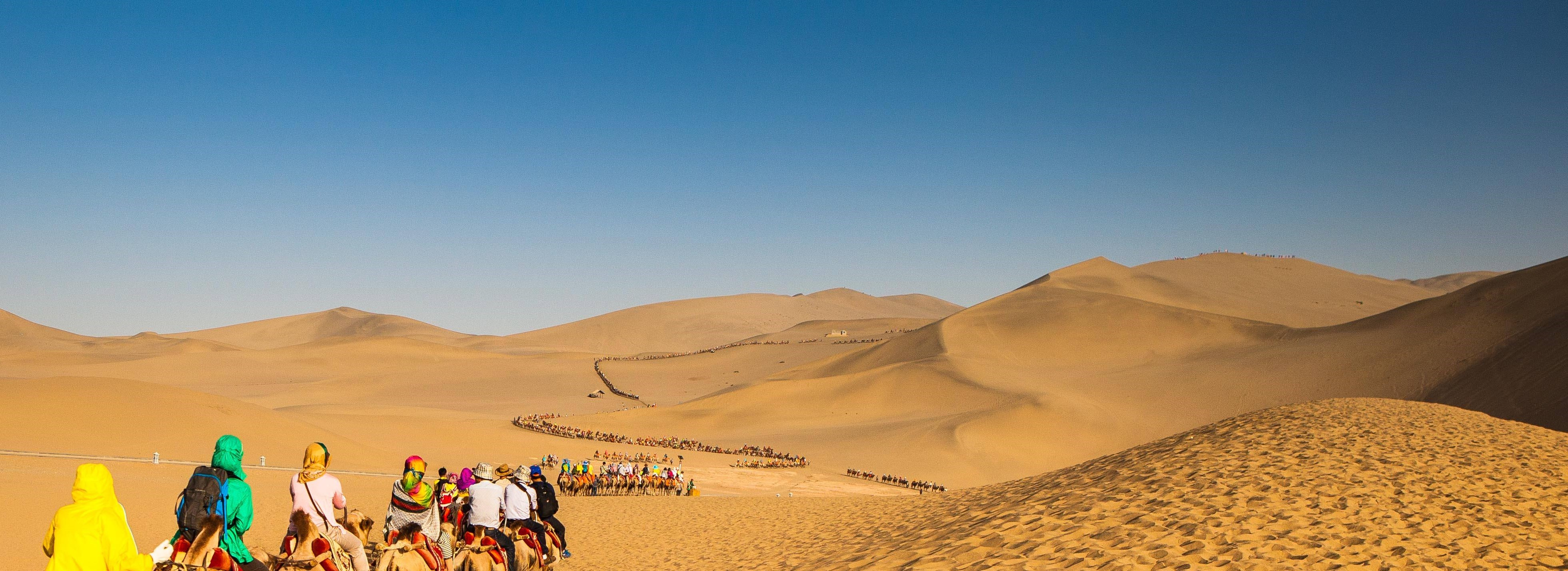 Camel-riding experience in Dunhuang