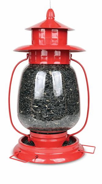 Red Lantern Bird Feeder