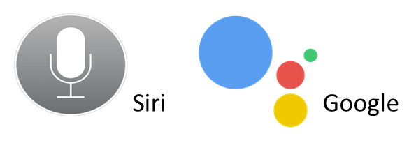 Siri and Google Assistant Icons