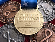 US Challenge competition medals - Gold, Bronze and Silver