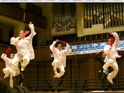 Fan Performance by wushu students from the United States Wushu Academy