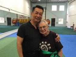 Coach Pei with Elder Student