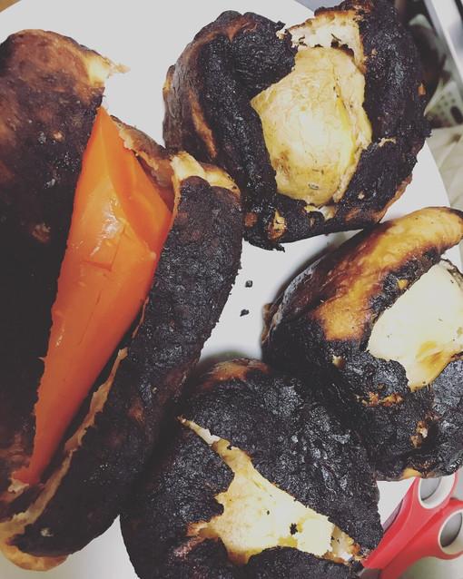 パン生地で包み焼