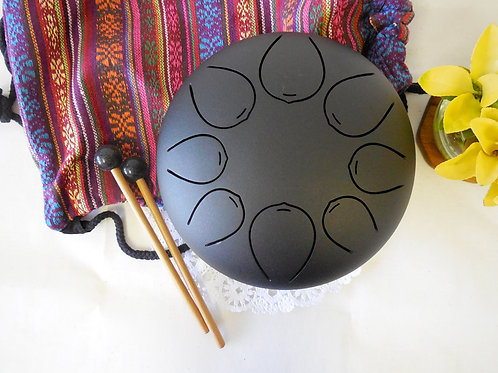 8in Special Notes Steel Tongue Drum, Handpan, Chakra Drum