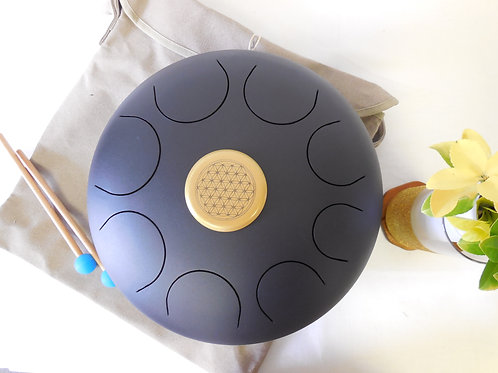 """WuYou 14"""" Steel Tongue Drum 35cm 8notes,Handpan Hank, Best Sound Therapy"""