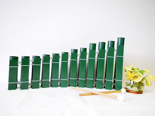 12 Aluminum Bars Angle Glockenspiel Precision Tuned Handcrafted Musical Instrume