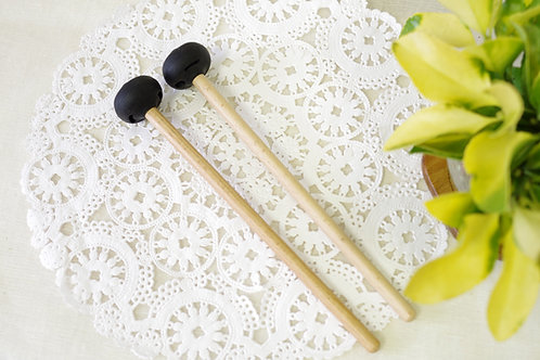 """""""3 in 1"""" Steel drum/Handpan Mallets, 3 different hardness In One Rubber tips"""