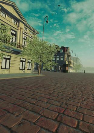 View towards Traian Street