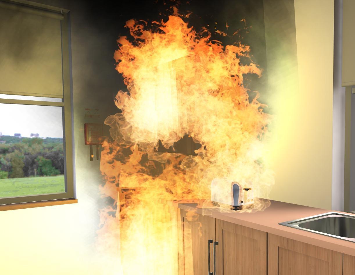 Kitchen Fire Simulation