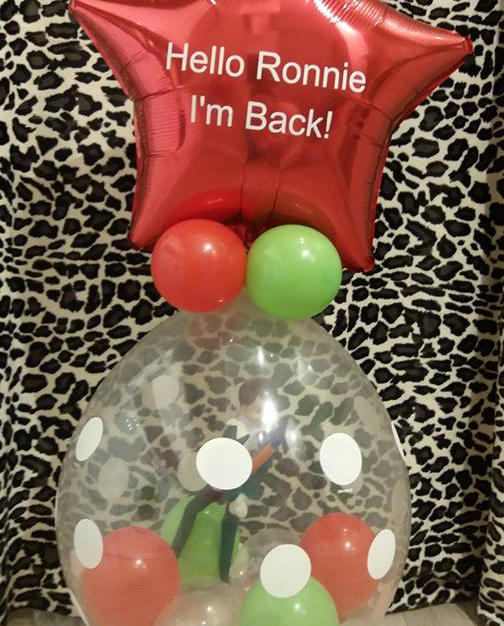 Return of the elf! stuffed balloon from £12.50 (with elf £17)