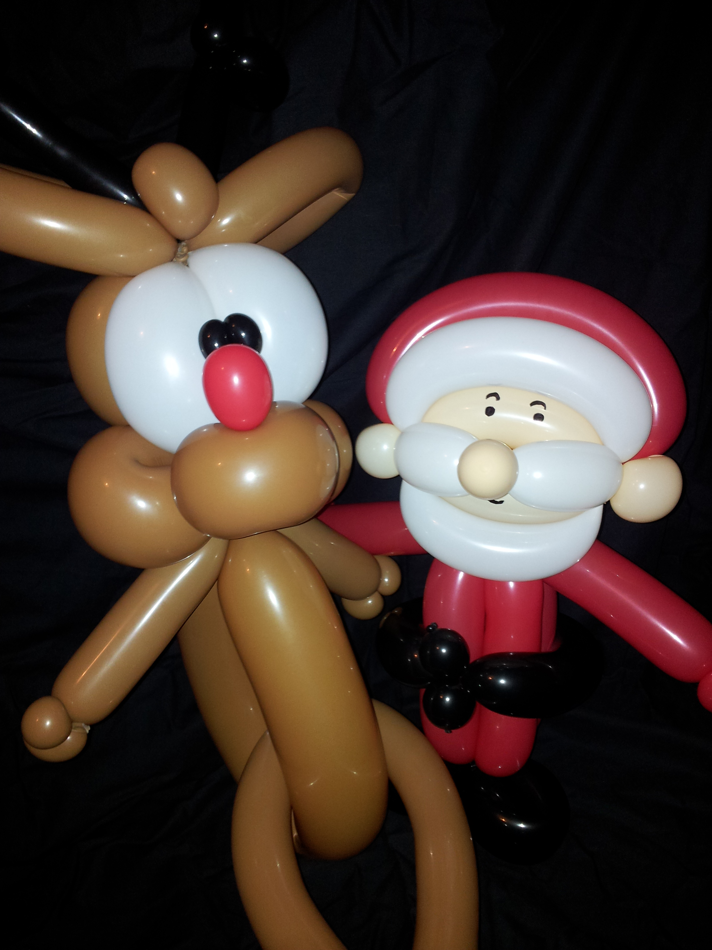 FATER CHRISTMAS AND RUDOLF £10 each