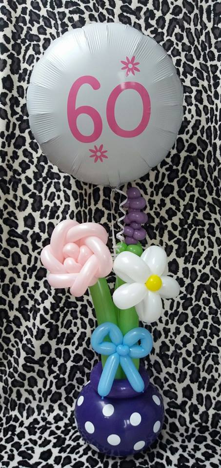 Flowers with message balloon £20