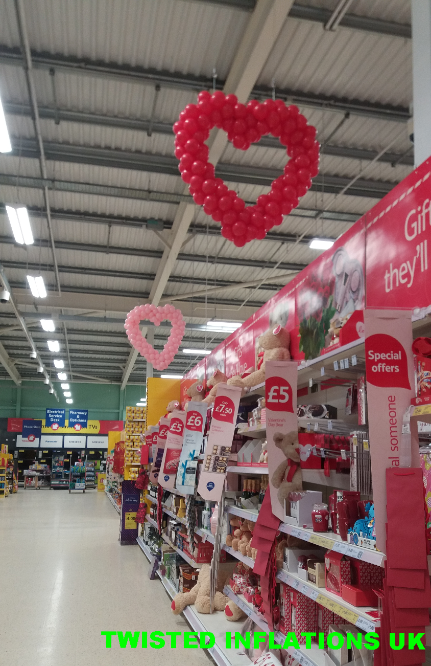 Giant hearts in Tesco £50 each