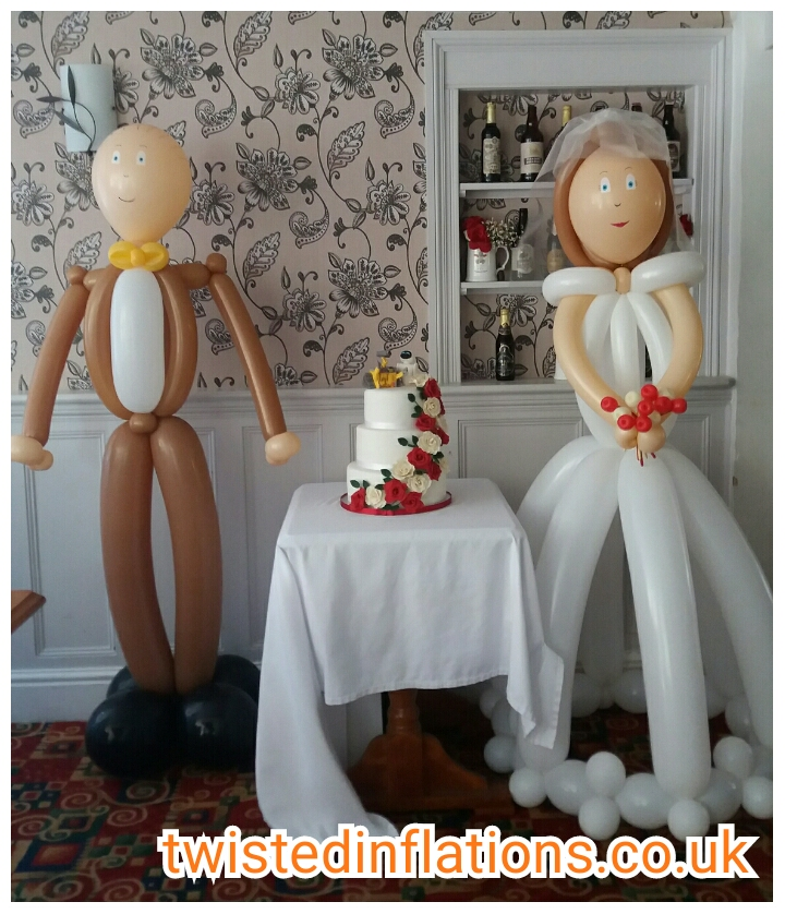 Life size Bride and Groom £65