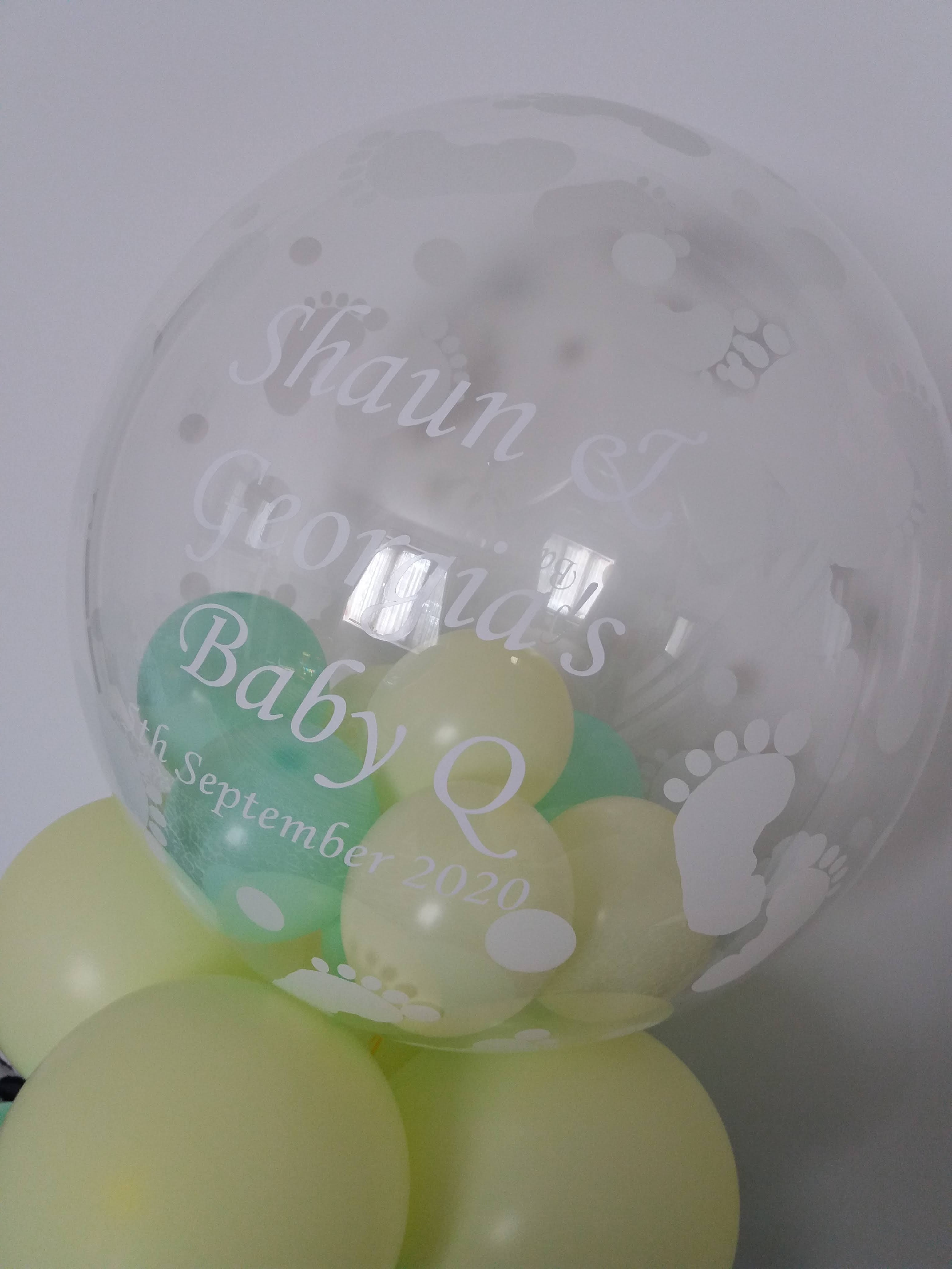 baby footprint bubble £15