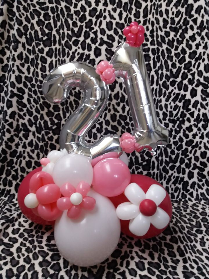 "16"" number dispaly with flowers £20"
