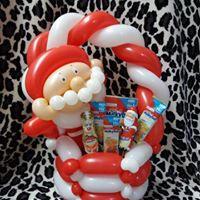 Santa christmas gift basket £12