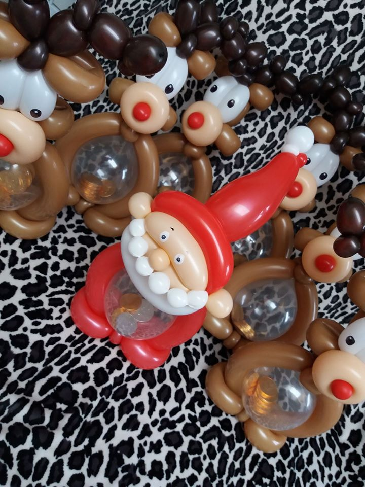 xmas bellybuddy filled with choc coins £6 each