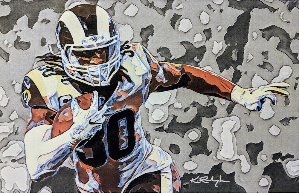 Todd Gurley / 2019 / Watercolor