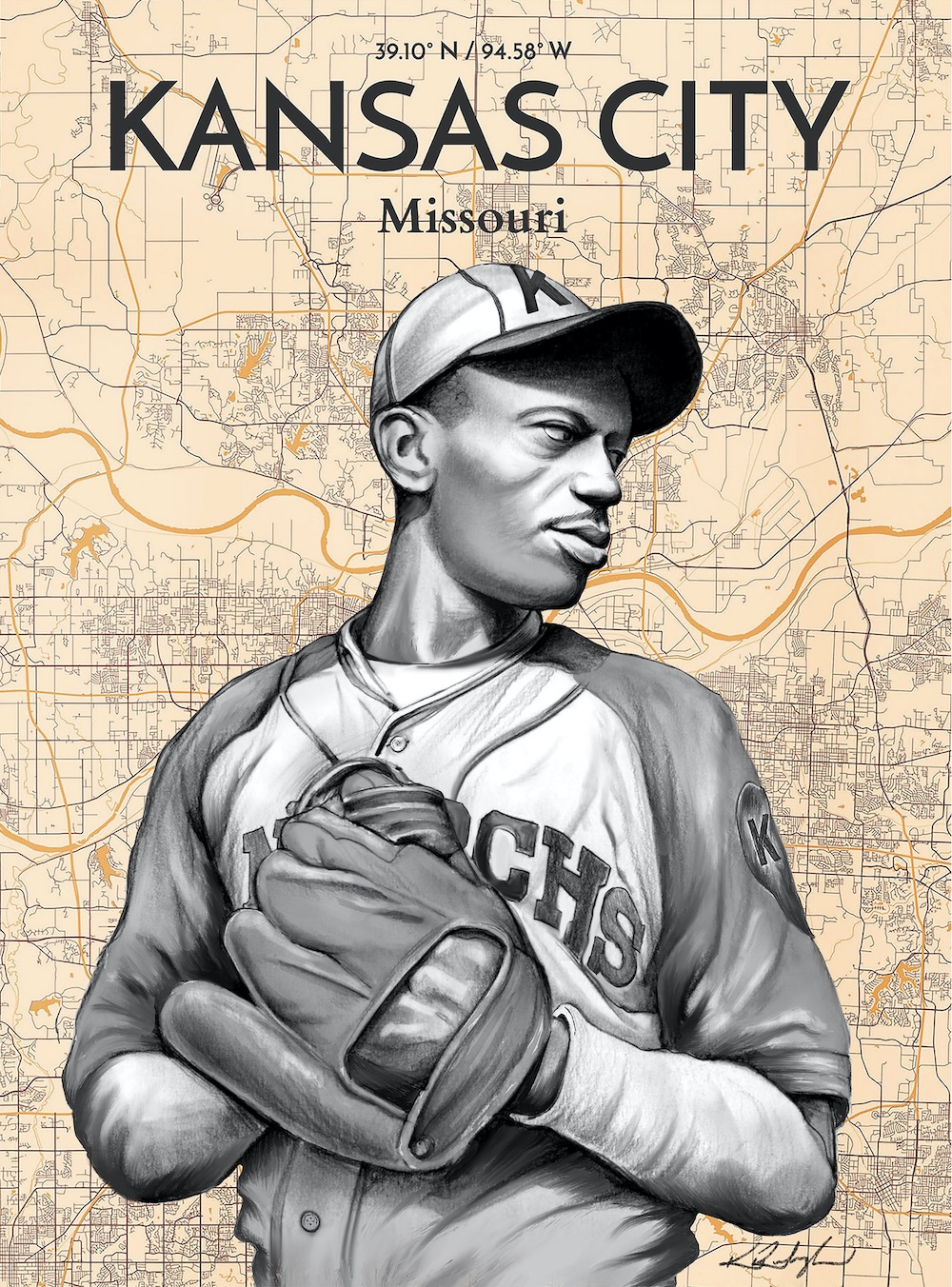 Satchel Paige / 2020 / Procreate