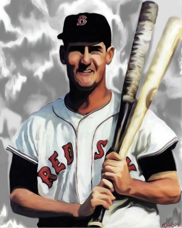 Ted Williams / 2004 / Acrylic