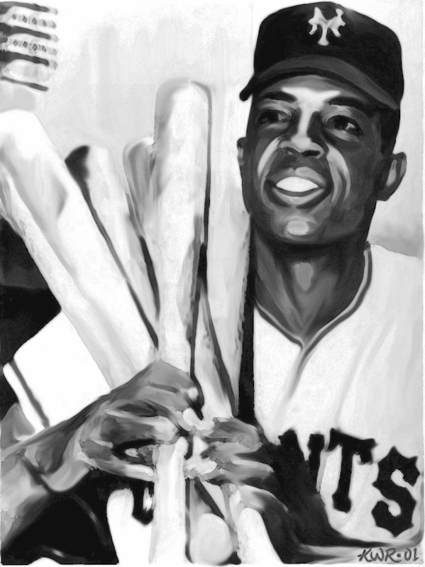 Willie Mays / 2001 / Acrylic