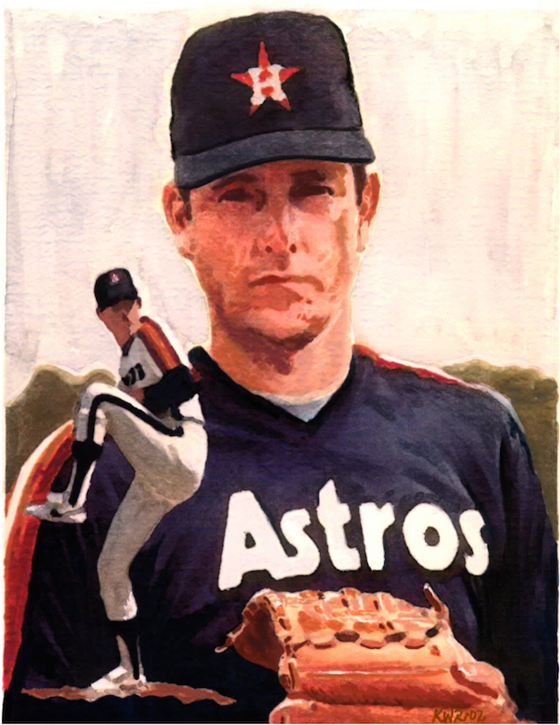 Nolan Ryan / 2002 / Watercolor