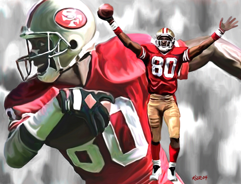 Jerry Rice / 2004 / Acrylic