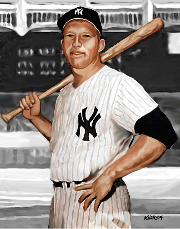 Mickey Mantle / 2004 / Acrylic