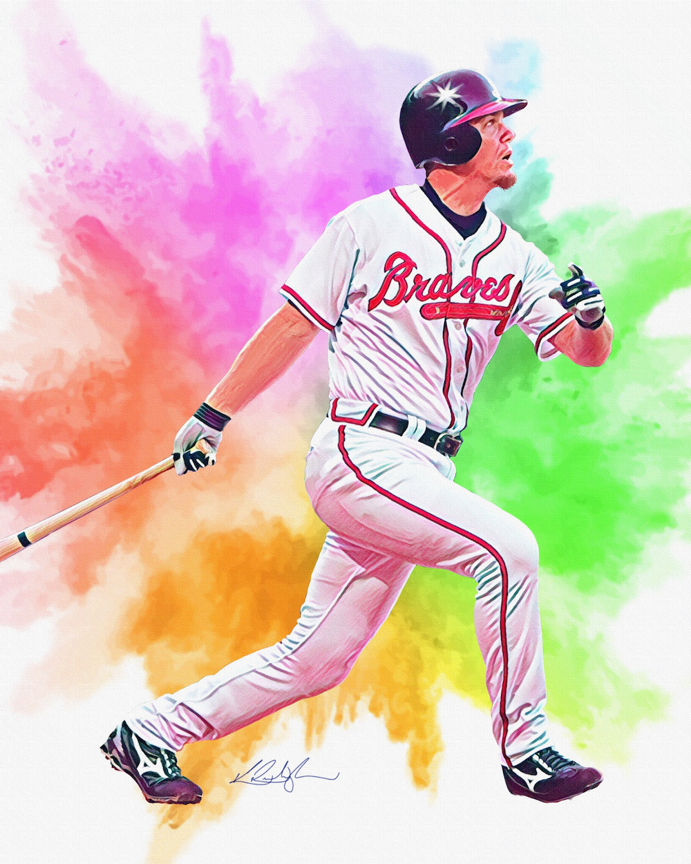 Chipper Jones / 2020 / Procreate