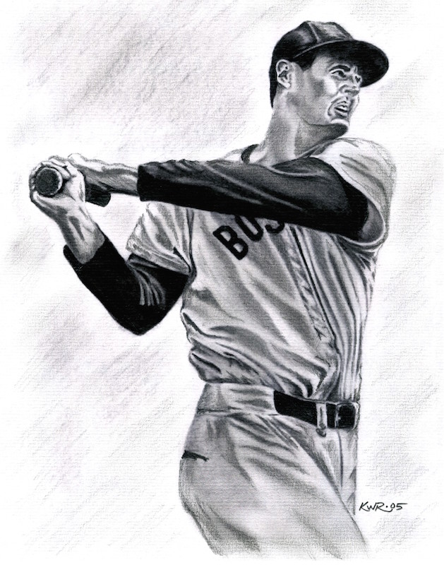 Ted Williams / 2005 / Graphite